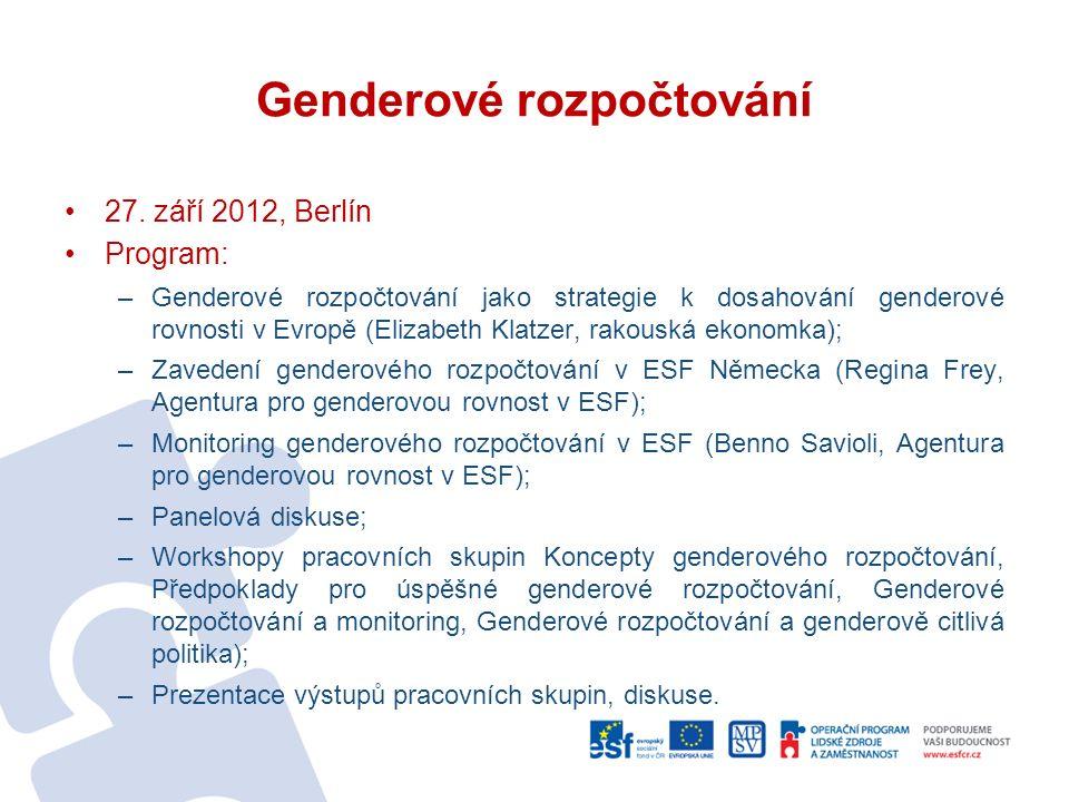 Genderové rozpočtování 27.