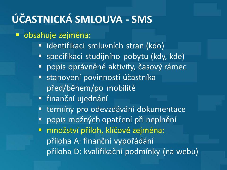 POSTUP PŘED VÝJEZDEM – SMS i SMP (6)  vyplnění online jazykového testu v OLS  cca 40 minut  povinné před a po mobilitě (!)  odkaz pro přihlášení přijde na kontaktní e-mail po sepsání ÚS nebo nejpozději při zahájení mobility  dle vyhodnocené dosažené úrovně je možné přidělit během pobytu licenci na online jazykový kurz (zdarma)  u úrovně B1 a nižší se přidělí online kurz automaticky  co dělat když …  link na OLS test z nějakého důvodu nelze ve schránce najít  a) díváte se na školní e-mail.