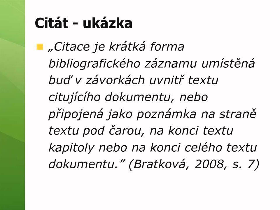 Citace v textu