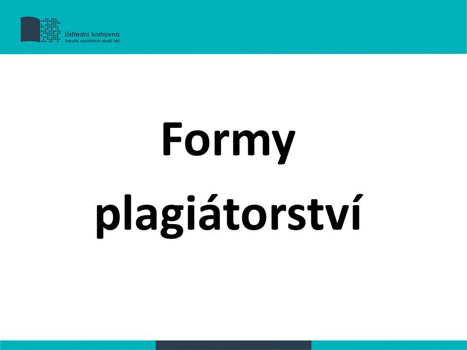 Formy plagiátorství