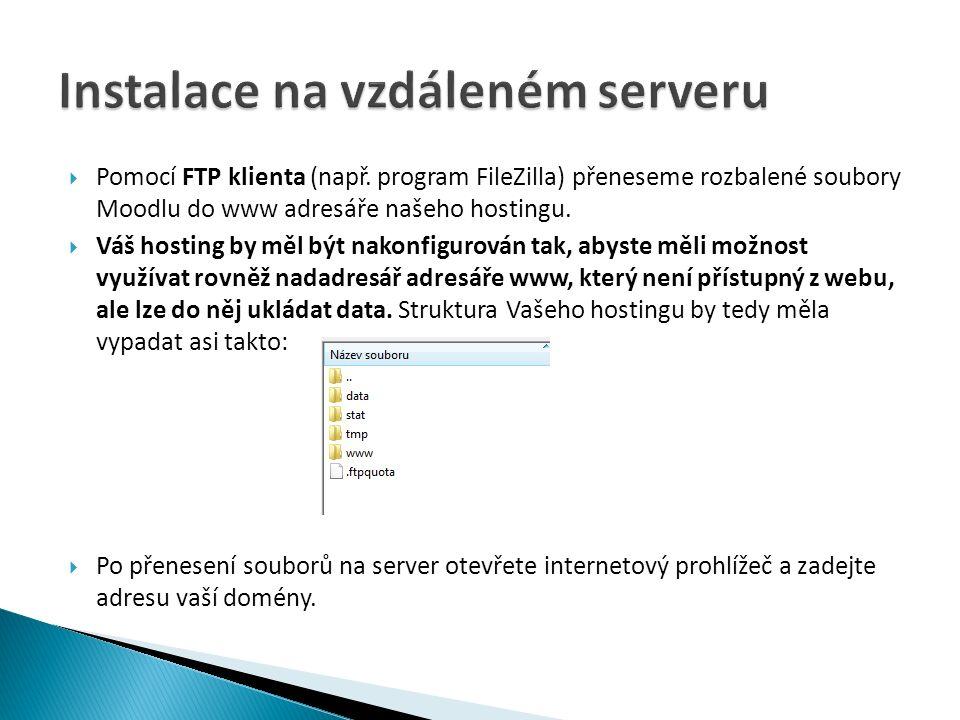  Pomocí FTP klienta (např.