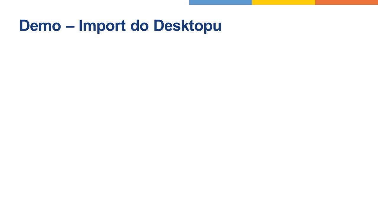 Demo – Import do Desktopu