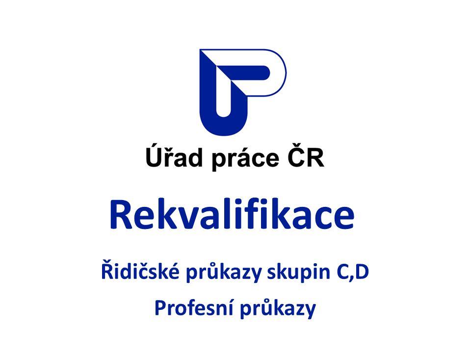 Rekvalifikace Řidičské průkazy skupin C,D Profesní průkazy