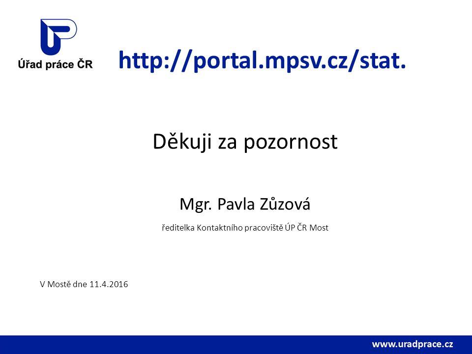 http://portal.mpsv.cz/stat. Děkuji za pozornost Mgr.