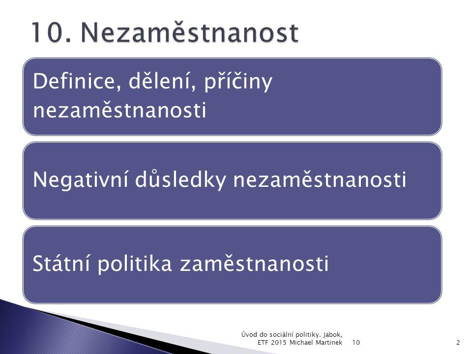10 Úvod do sociální politiky.