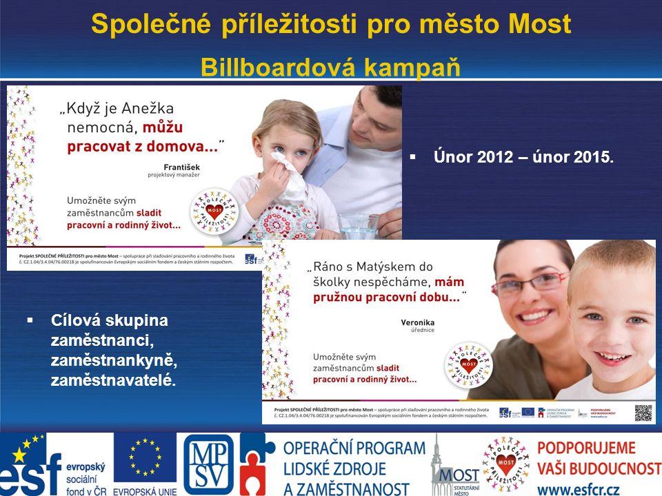 www.mesto-most.cz Společné příležitosti pro město Most Billboardová kampaň  Únor 2012 – únor 2015.