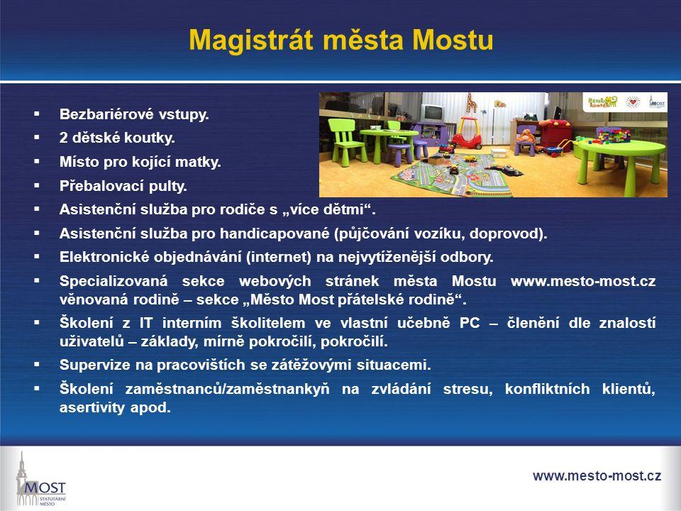 www.mesto-most.cz Magistrát města Mostu  Bezbariérové vstupy.