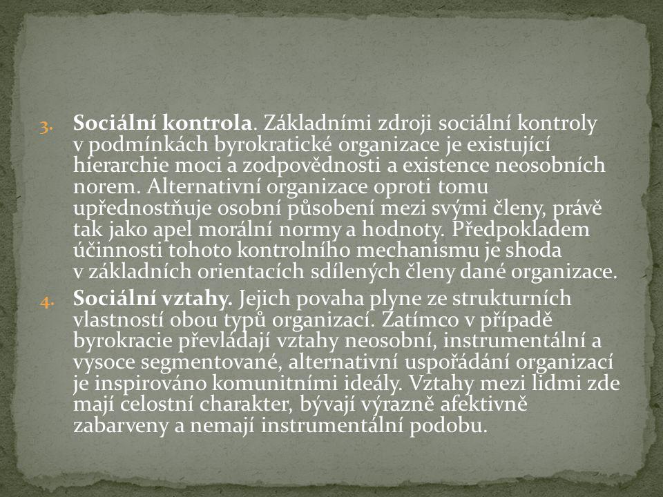 3. Sociální kontrola.
