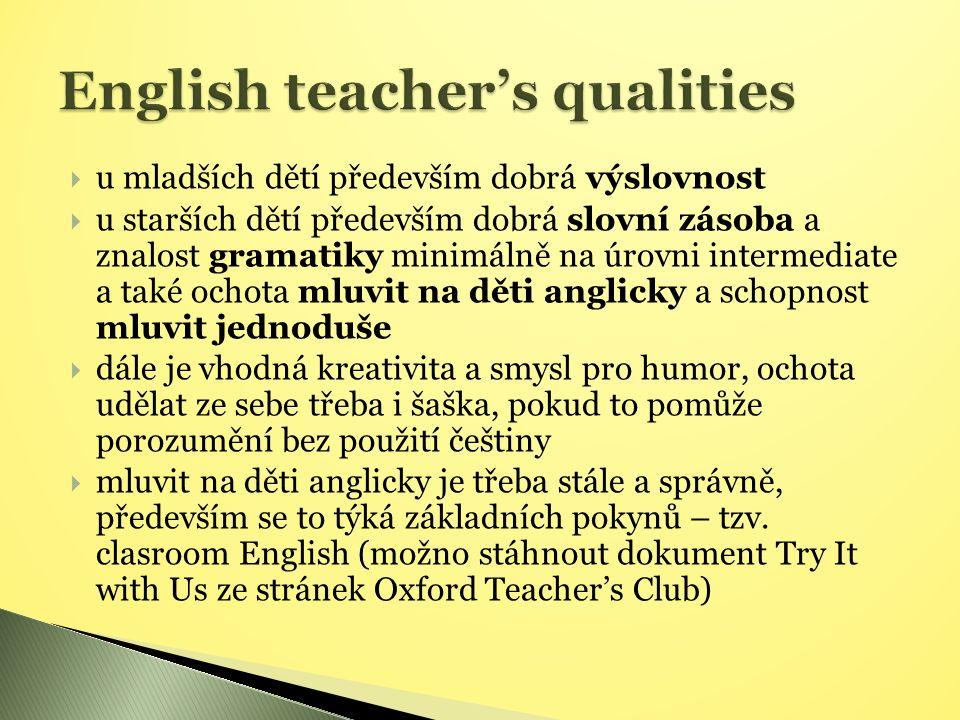  http://www.englishstudydirect.com/OSAC/langacls.htm http://www.englishstudydirect.com/OSAC/langacls.htm  www.teachingenglish.org.uk/try/teaching-kids www.teachingenglish.org.uk/try/teaching-kids   http://www.teachingenglish.org.uk/try/activities http://www.teachingenglish.org.uk/try/activities  www.komen1.estranky.cz/clanky/ucitele-i-stupen/anglictina-i_stupen.html www.komen1.estranky.cz/clanky/ucitele-i-stupen/anglictina-i_stupen.html   www.puzzle-maker.com – program na výrobu osmisměrek www.puzzle-maker.com  www.britishcouncil.org/kidsenglish www.britishcouncil.org/kidsenglish  www.detskestranky.cz www.detskestranky.cz   Travel to learn:  www.jazyky-v-zahranici.cz www.jazyky-v-zahranici.cz  www.naep.cz www.naep.cz