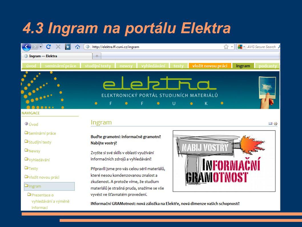 4.3 Ingram na portálu Elektra
