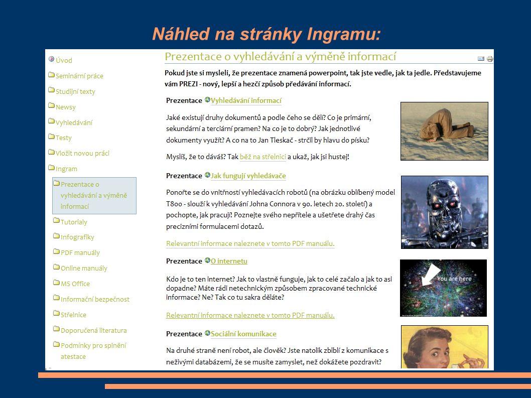 Náhled na stránky Ingramu: