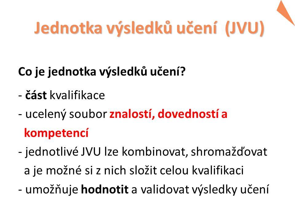 Jednotka výsledků učení (JVU) Jednotka výsledků učení (JVU) Co je jednotka výsledků učení.