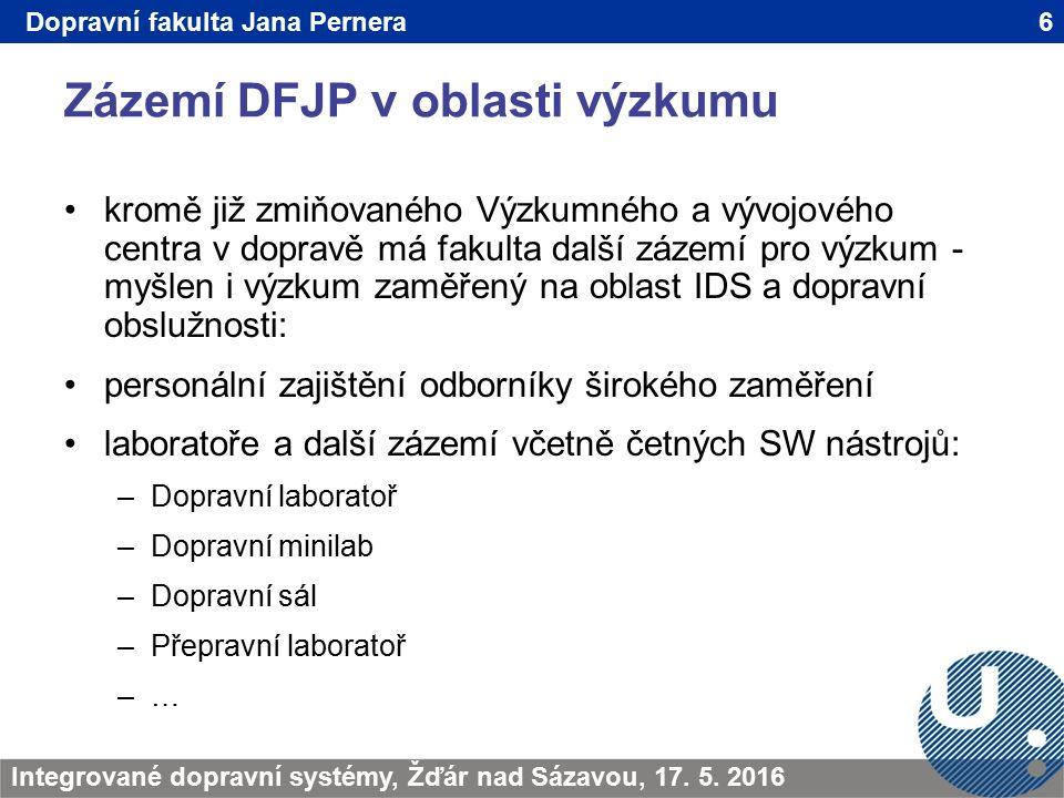 Zázemí DFJP v oblasti výzkumu 6TRANSCOM - Žilina 200923.