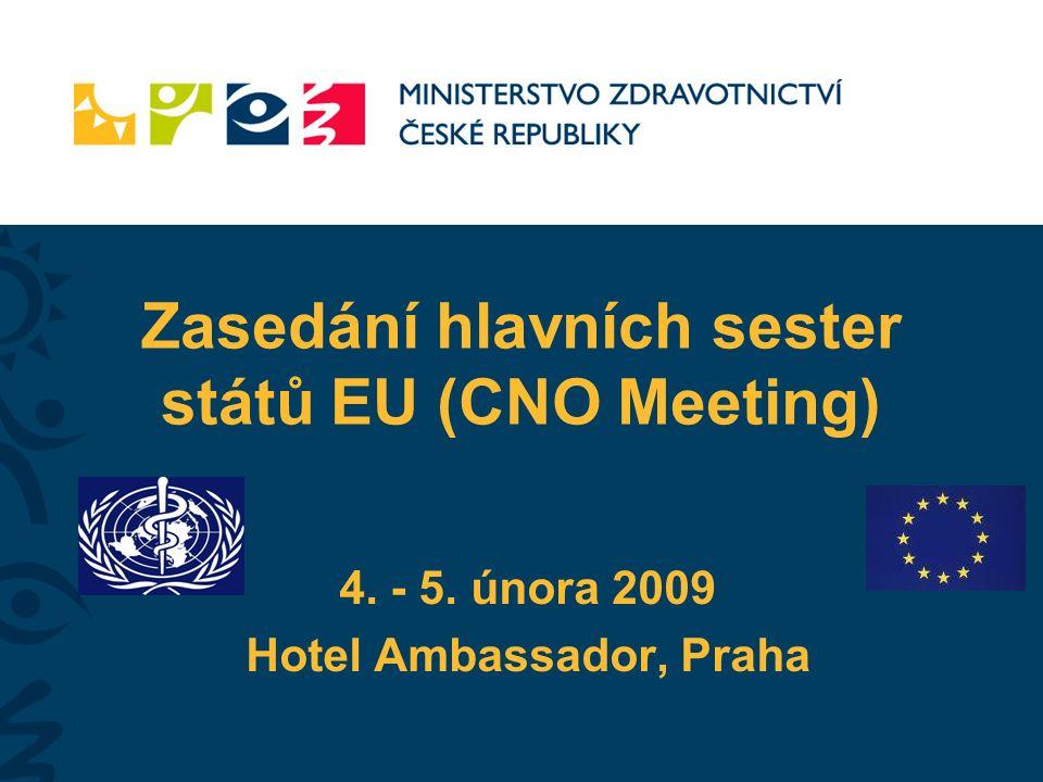 Zasedání hlavních sester států EU (CNO Meeting) 4. - 5. února 2009 Hotel Ambassador, Praha