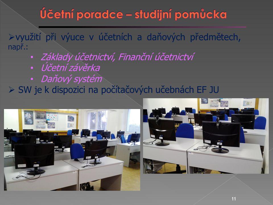 10  Smluvní spolupráce EF JU, Svazu účetních ČR a firmy MBM Trans, s.r.o.