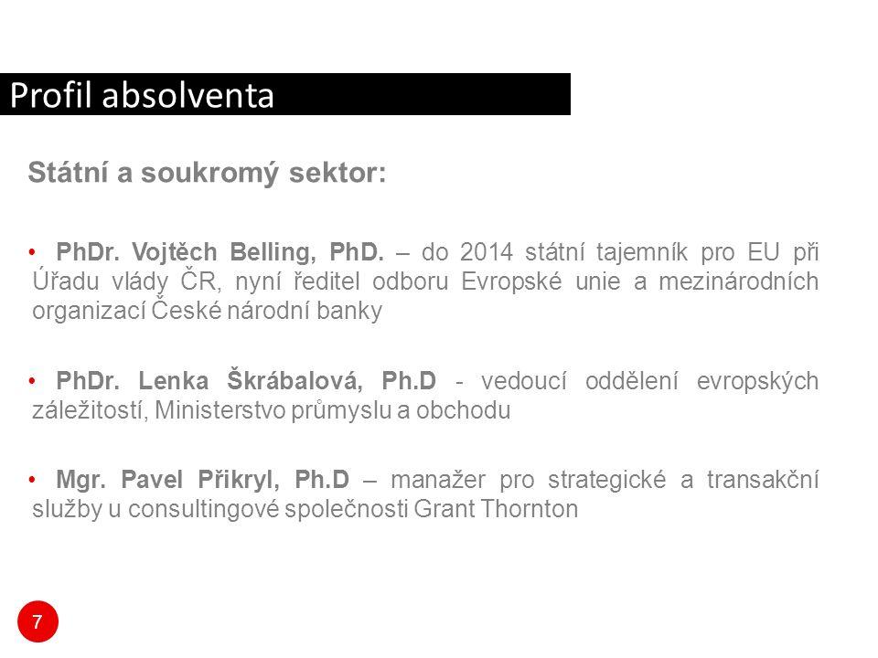 7 Státní a soukromý sektor: PhDr. Vojtěch Belling, PhD.
