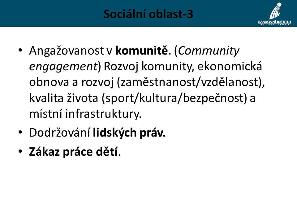 Sociální oblast-3 Angažovanost v komunitě.
