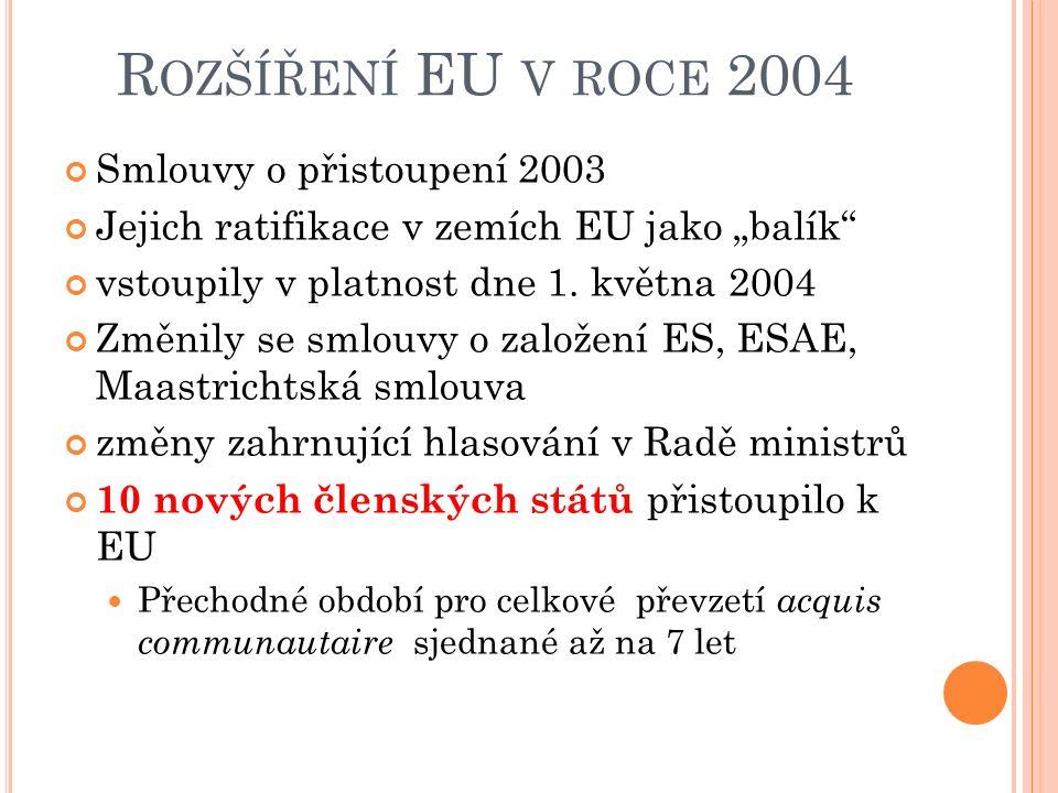 2000 –N ICESKÁ SMLOUVA institucionální reformy nezbytné pro plánované rozšíření EU mezivládní konference, která se konala v Nice ve Francii (7. – 9. p