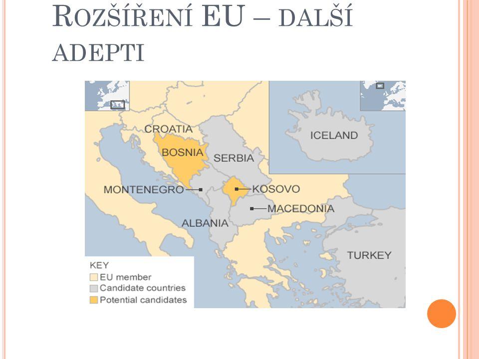 V STUP DO KLUBU – KRITÉRIA PRO VSTUP DO EU Přistupující země musí splnit Kodaňská kritéria (1993) pro vstup do Evropské unie  stabilita politických i