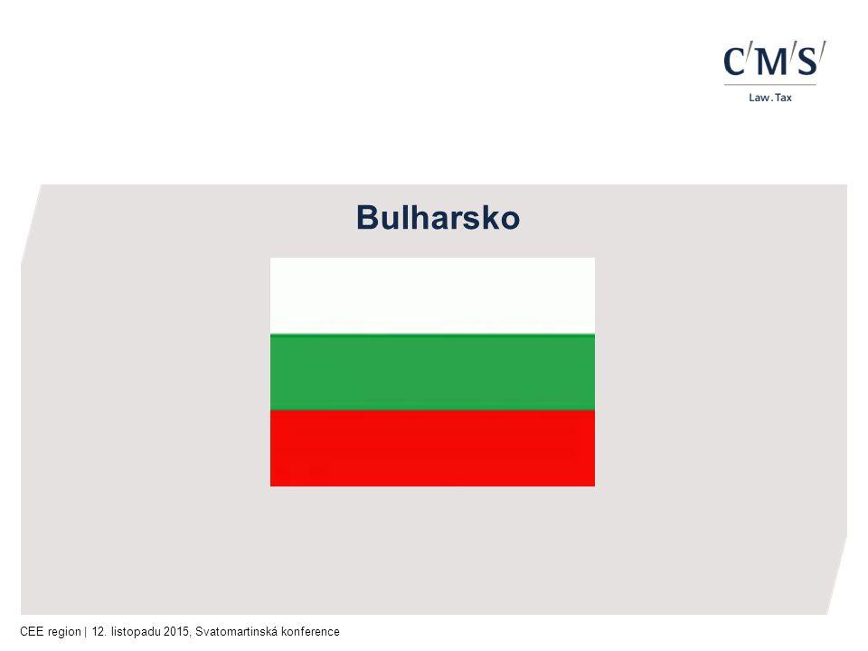 CEE region | 12. listopadu 2015, Svatomartinská konference Bulharsko