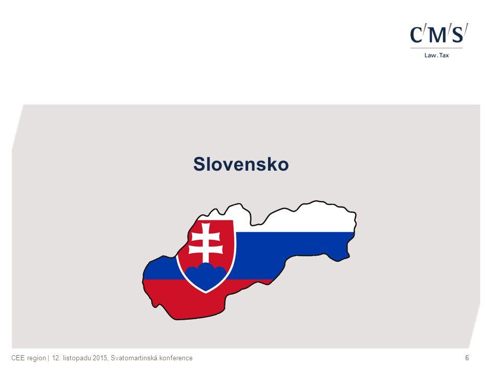 CEE region | 12. listopadu 2015, Svatomartinská konference66 Slovensko