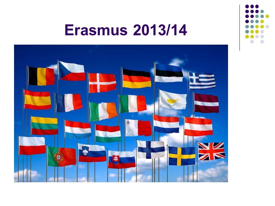 Specializované kurzy méně používaných jazyků Pro vyjíždějící na studijní pobyt i na pracovní stáž Výuka jazyka i kultury dané země na začátku semestru 4 až 6 týdnů Výuka je zdarma Stipendium od MENDELU Přihláška: http://ec.europa.eu/education/programmes/llp/erasmus/eilc/index_en.html, http://ec.europa.eu/education/erasmus/doc1300_en.htm Intenzivní jazykové kurzy Erasmus (EILC)