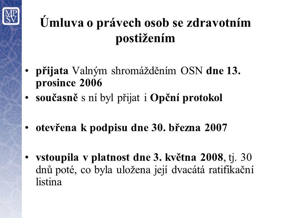 Úmluva o právech osob se zdravotním postižením ke dni 28.