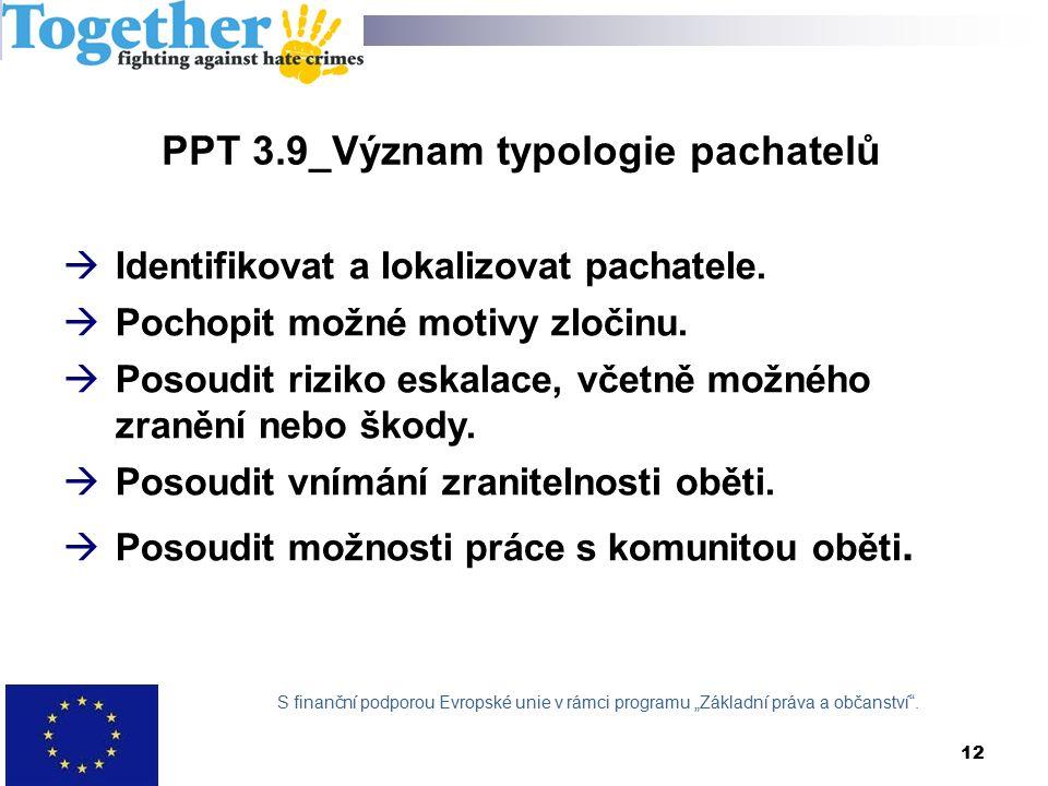 PPT 3.9_Význam typologie pachatelů  Identifikovat a lokalizovat pachatele.