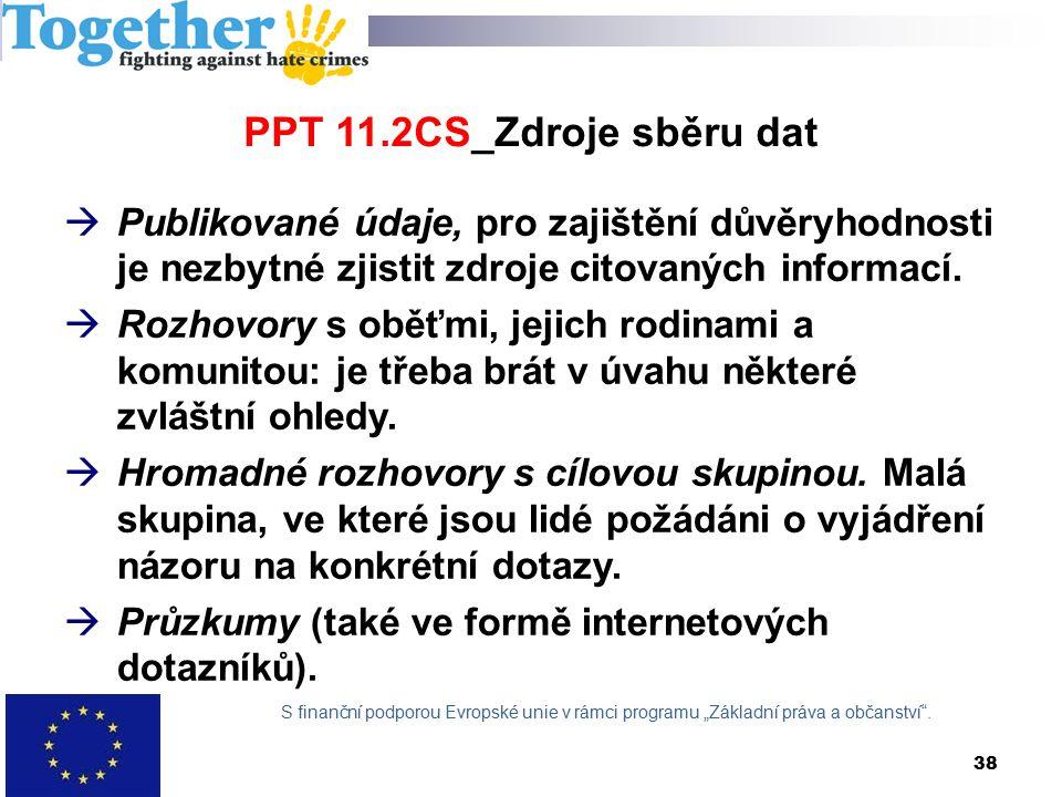 PPT 11.2CS_Zdroje sběru dat  Publikované údaje, pro zajištění důvěryhodnosti je nezbytné zjistit zdroje citovaných informací.