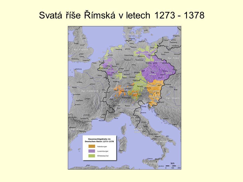Svatá říše Římská v letech 1273 - 1378