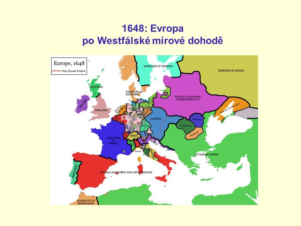 1648: Evropa po Westfálské mírové dohodě
