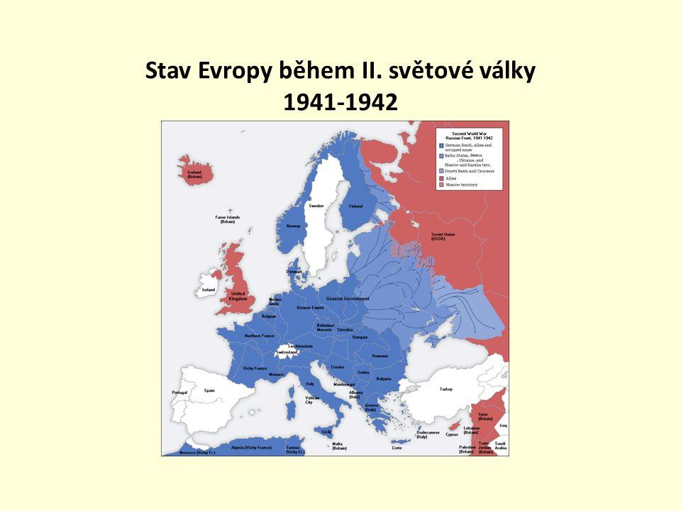 Stav Evropy během II. světové války 1941-1942