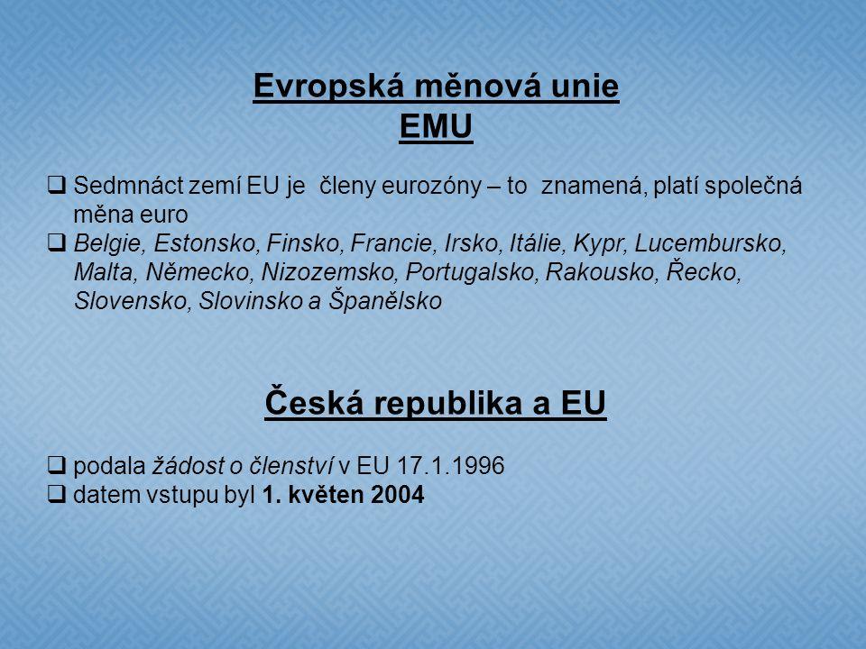 Evropské instituce  Evropský parlament  Evropská rada  Rada Evropské unie  Evropská komise  Soudní dvůr Evropské unie  Evropská centrální banka