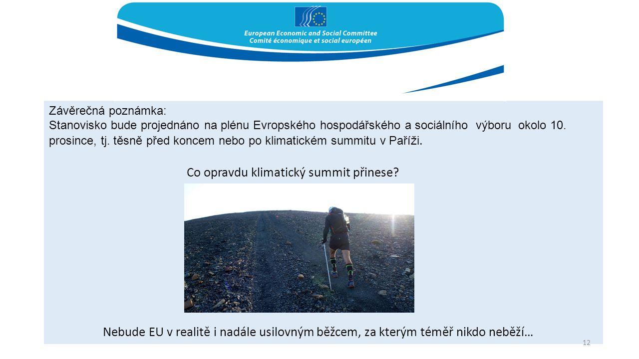 Závěrečná poznámka: Stanovisko bude projednáno na plénu Evropského hospodářského a sociálního výboru okolo 10. prosince, tj. těsně před koncem nebo po