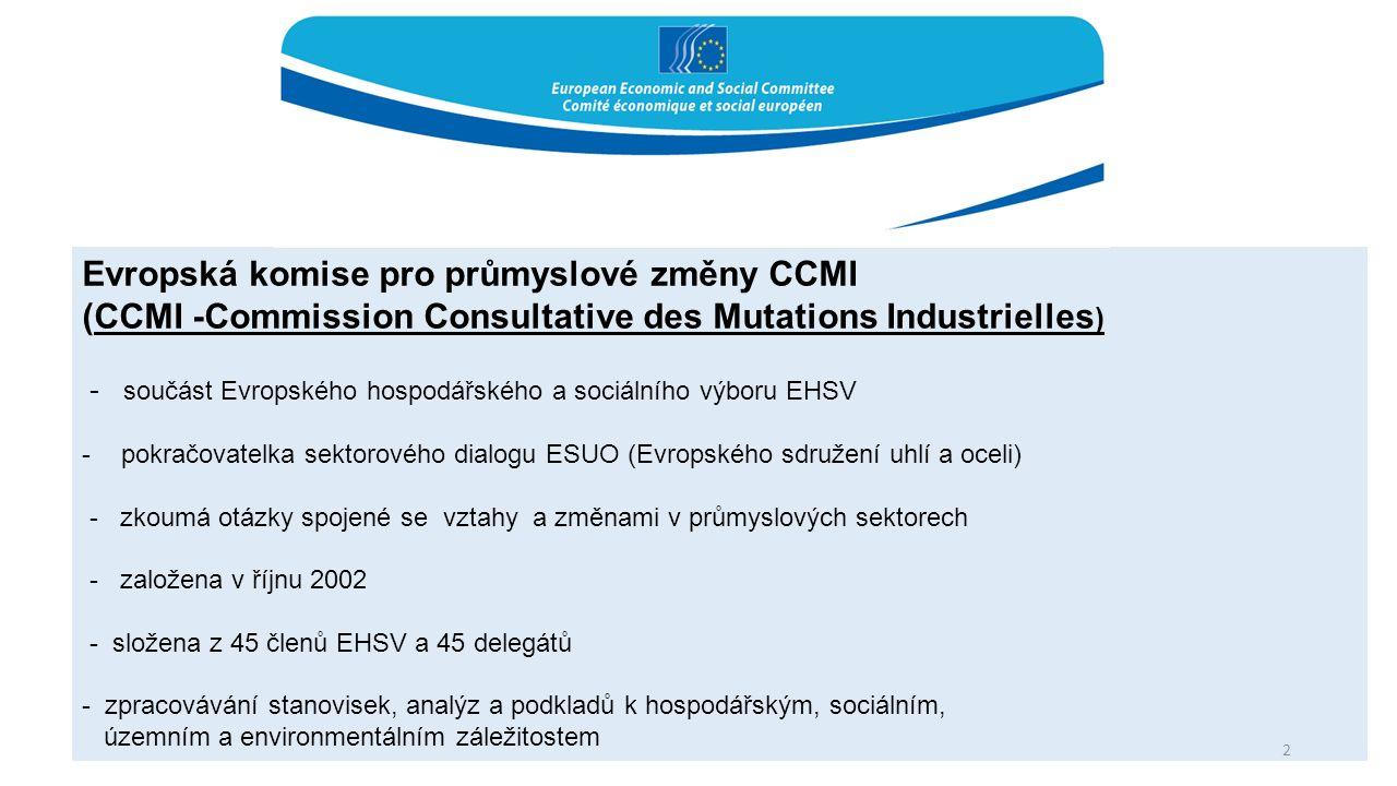 Evropská komise pro průmyslové změny CCMI (CCMI -Commission Consultative des Mutations Industrielles ) - součást Evropského hospodářského a sociálního