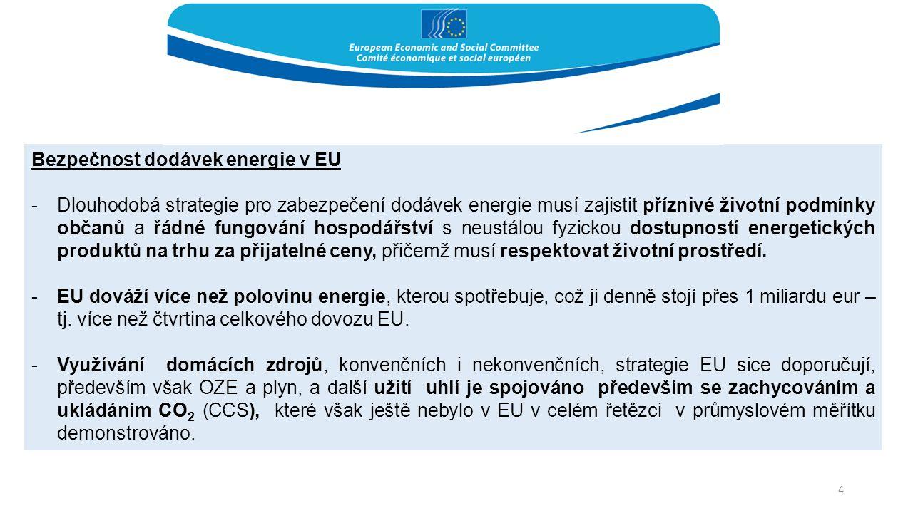 Bezpečnost dodávek energie v EU -Dlouhodobá strategie pro zabezpečení dodávek energie musí zajistit příznivé životní podmínky občanů a řádné fungování hospodářství s neustálou fyzickou dostupností energetických produktů na trhu za přijatelné ceny, přičemž musí respektovat životní prostředí.