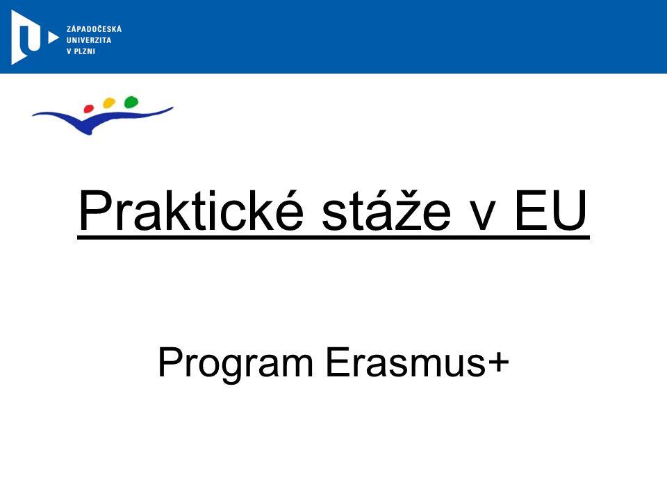 Praktické stáže v EU Program Erasmus+