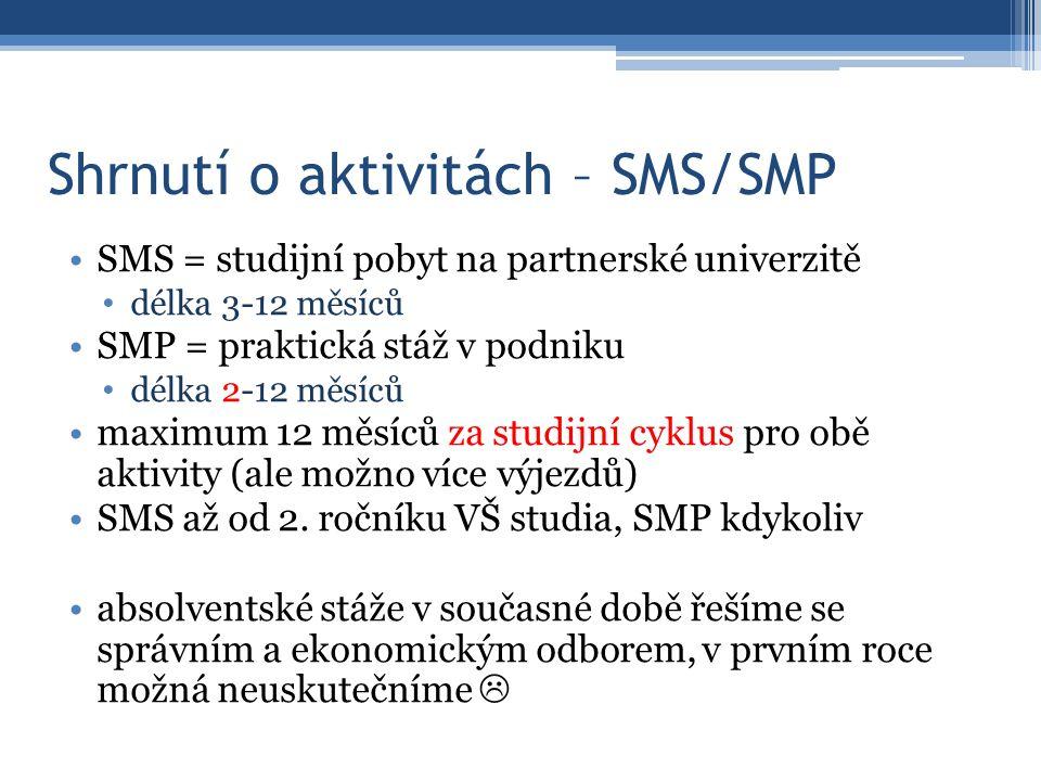 Shrnutí o aktivitách – SMS/SMP praktickou stáž nově možno (nutno?) přerušit v případě uzavření podniku z důvodu podnikové dovolené (tato doba se následně nepočítá do min.