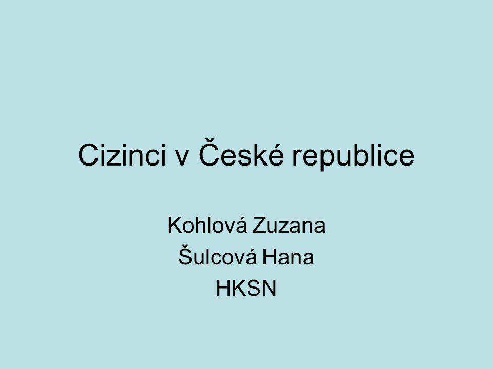Cizinci v České republice Kohlová Zuzana Šulcová Hana HKSN