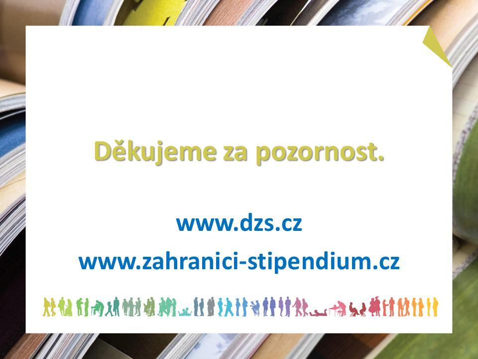 Děkujeme za pozornost. www.dzs.cz www.zahranici-stipendium.cz