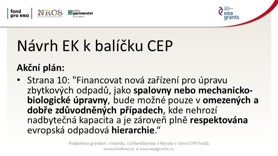 Další postup balíčku CEP Do konce 2015 zpravodajové a časový rámec Do poloviny roku 2016 Lux.
