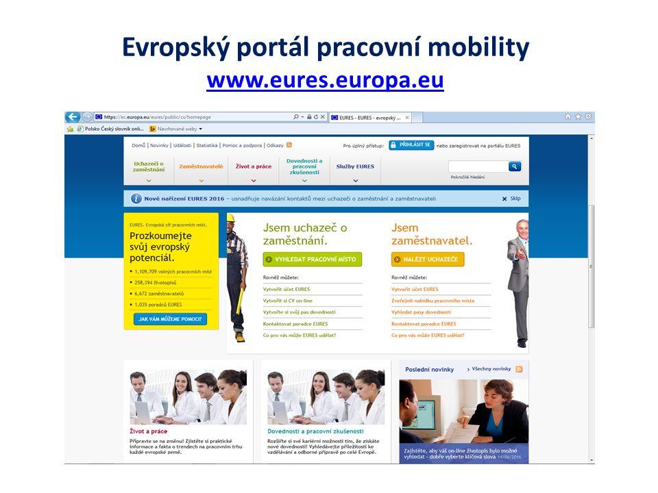 Evropský portál pracovní mobility www.eures.europa.eu www.eures.europa.eu