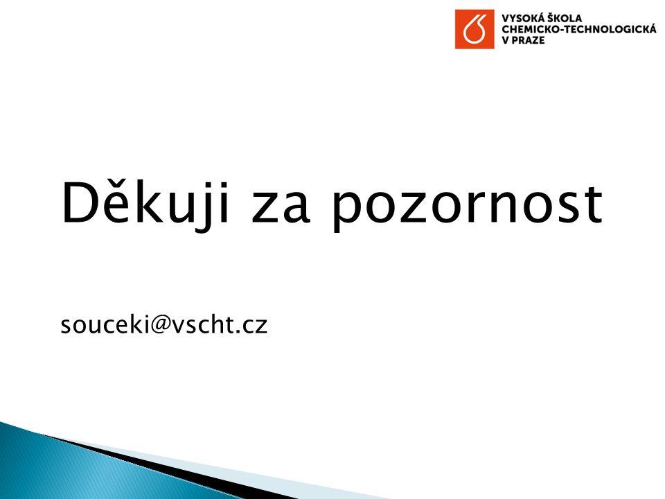 Děkuji za pozornost souceki@vscht.cz