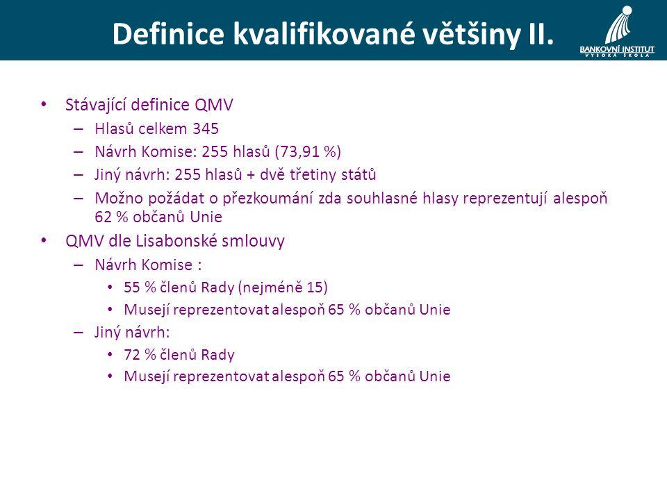 Definice kvalifikované většiny II.