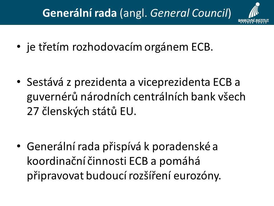 je třetím rozhodovacím orgánem ECB.