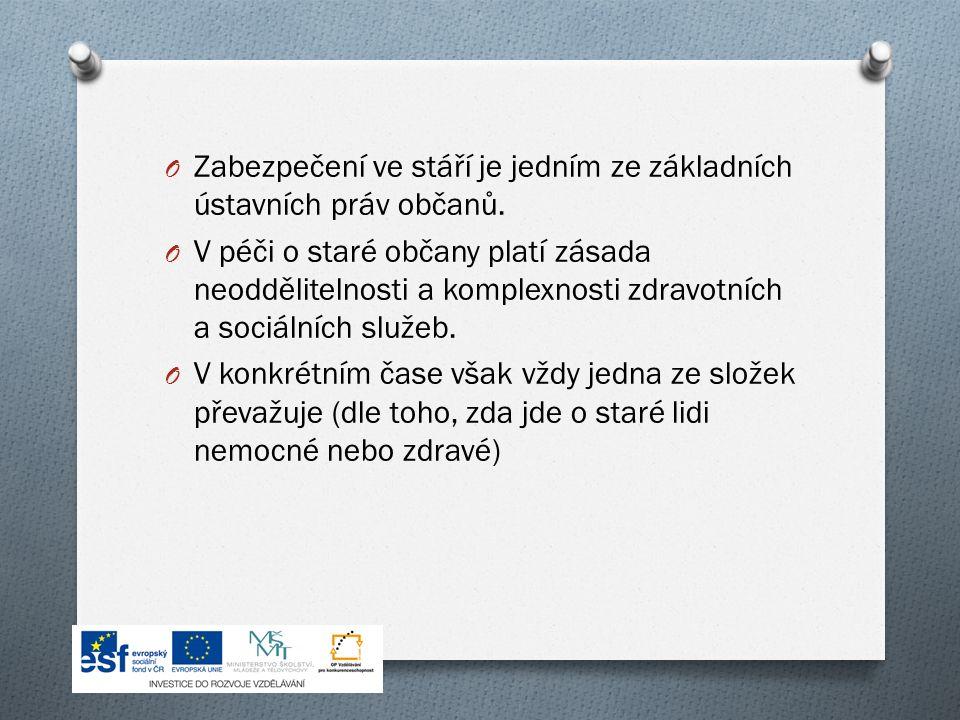 O Zabezpečení ve stáří je jedním ze základních ústavních práv občanů.