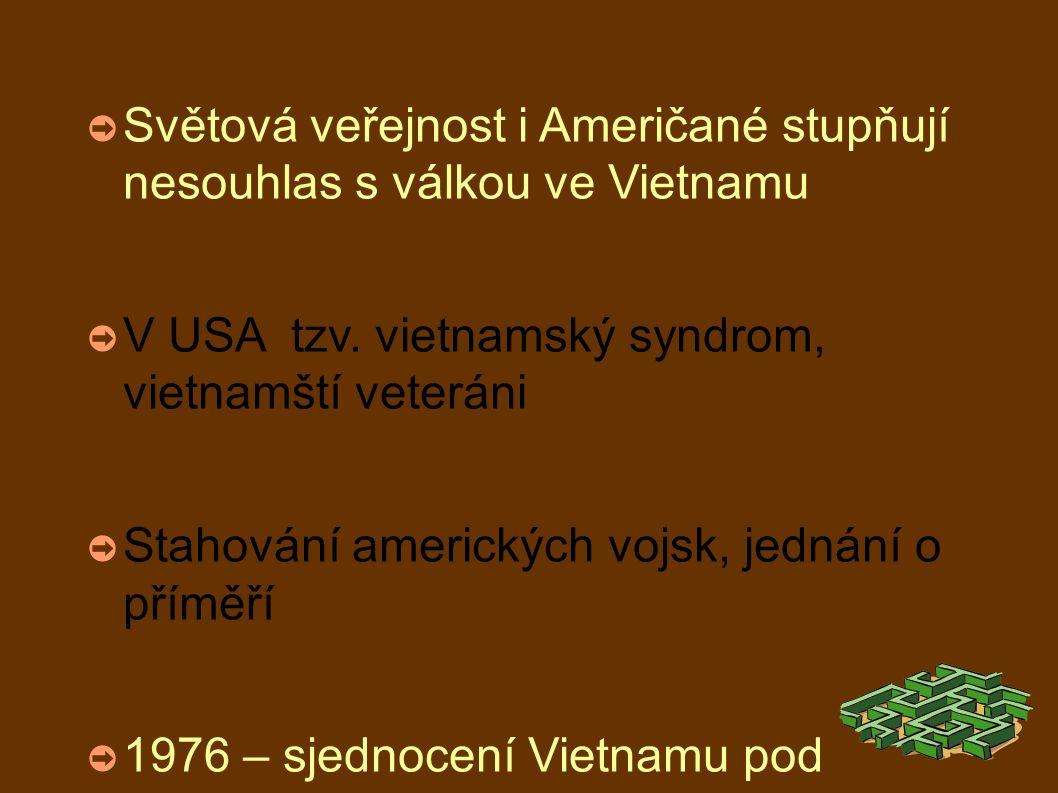 ➲ Světová veřejnost i Američané stupňují nesouhlas s válkou ve Vietnamu ➲ V USA tzv.
