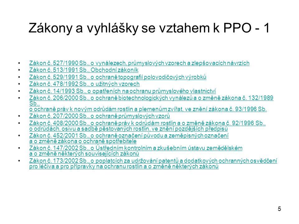 6 Zákony a vyhlášky se vztahem k PPO - 2 Zákon č.