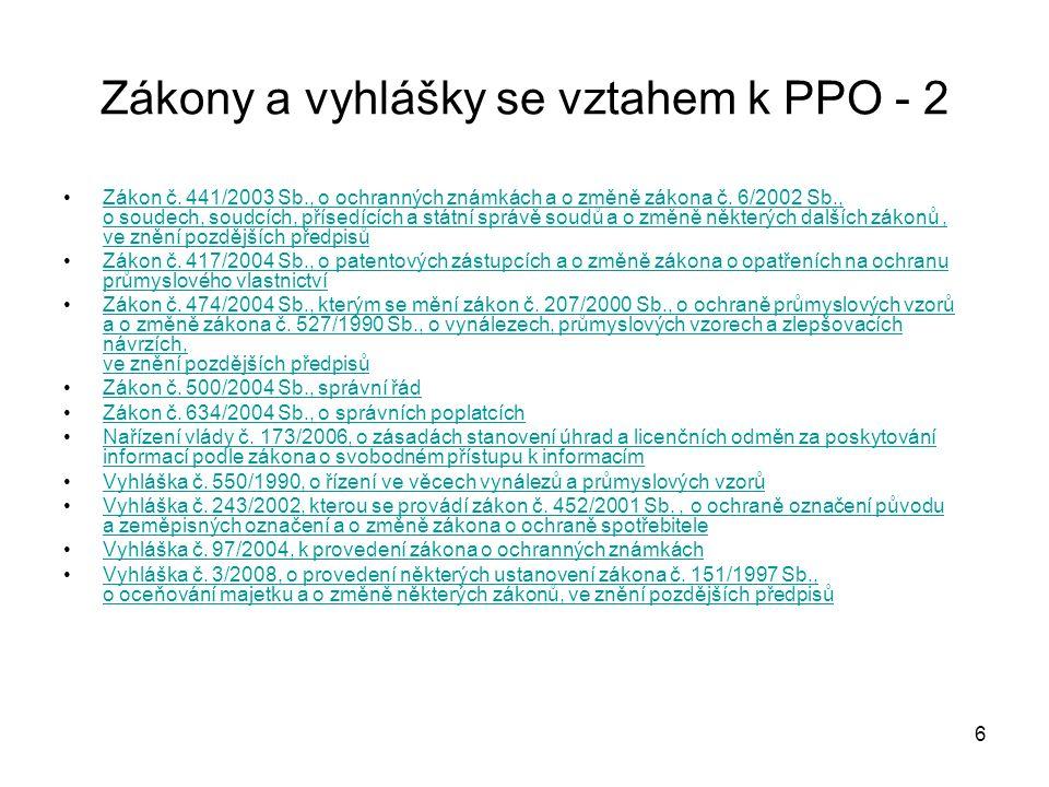 57 Zákon č.478/1992 Sb., o užitných vzorech, jak vyplývá ze změn provedených zákonem č.