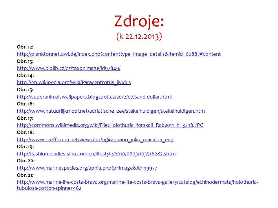 Zdroje: (k 22.12.2013) Obr.
